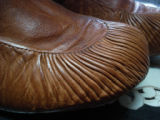 Noseworthy, Doreen.  The pleats on a sealskin boot made by Doreen Noseworthy, Green Island Brook.
