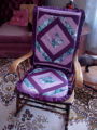 Parrill, Rita.  A quilted chair cover made by Rita Parrill, Pines Cove.