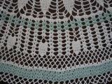 Parrill, Rita.  Close-up of a crocheted doily made by Rita Parill, Pines Cove.
