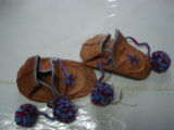 Noseworthy, Doreen.  Sealskin baby slippers made by Doreen Noseworthy's mother in law, Green...