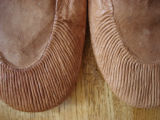 Parrill, Rita.  Close-up of Rita Parrill's sealskin slippers that she made for herself, Lower Cove.