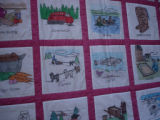 Parrill, Rita.  A hand drawn Newfoundland quilt made by Rita Parrill, Pines Cove.