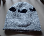 Kearney, Nellie.  Whale pattern winter hat made by Nellie Kearney, Conche, Newfoundland.