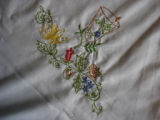 Genge, Eliza.  Embroidered tablecloth made by Eliza Genge, Anchor Point.