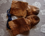 White, Eileen.  A pair of child sized sealskin boots belonging to Eileen White, Sandy Cove.