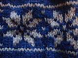 Dower, Alice.  Close-up of snowflake pattern from a winter hat made by Alice Dower, Conche,...