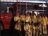 Woody Point firefighters. Colour photograph.