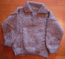 Dower, Alice.  A child sized sweater made by Alice Dower, Conche, Newfoundland.
