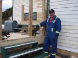 French Shore Interpretation Centre.  Restoring the exterior of the French Shore Interpretation...