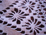 Dower, Alice.  Close-up of crocheted tablecloth made by Alice Dower, Conche, Newfoundland.
