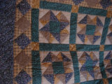 Dower, Alice.  A patchwork quilt made by Alice Dower, Conche, Newfoundland.