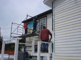 French Shore Interpretation Centre.  Painting the French Shore Interpretation Centre the colours...