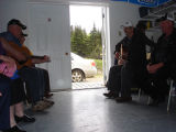 French Shore Interpretation Centre.  Playing music for the Iceberg Festival at the French Shore...