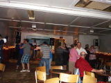 Members of the community dance to live music at the local bar, Conche, Newfoundland.