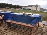French Shore Interpretation Centre.  An outdoor dinner setting with the French Shore...