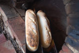 Bread Making Workshop. Freshly baked french bread, Conche, Newfoundland.