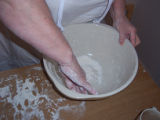 Bread Making Workshop. A bowl used for making bread, Conche, Newfoundland.