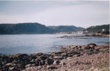A view of Conche from across the water, Conche, Newfoundland.