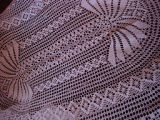 Dower, Alice.  Crocheted tablecloth made by Alice Dower, Conche, Newfoundland.