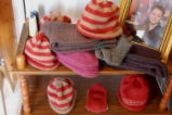 Chambers, Laura.  A selection of Laura Chambers' knitting on sale at the French Island Bed and...