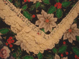 Whalen, Polly.  Crocheted edging from a Christmas themed table runner made by Polly Whalen,...