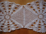 Rice, Betty.  A doily crocheted by Betty Rice, Main Brook.