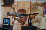 Carroll, Gertrude.  Antler gun rack that belonged to Gert Carroll's husband, Conche, Newfoundland.