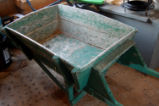 Elliott, George.  An old wheelbarrow made by George Elliott, Main Brook.