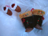 Coombs, Inga.  Sealskin boot and slipper ornaments belonging to Inga Coombs, Main Brook.
