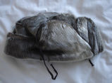 Coombs, Inga.  A sealskin hat made by Inga Coombs' mother, Main Brook.