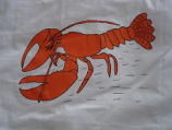 Coombs, Inga.  Lobster panel from a painted Newfoundland quilt made by Inga Coombs, Main Brook.