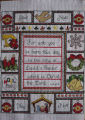 Pilgrim, Isabel.  A Christmas themed cross-stitch made by Isabel Pilgrim, Main Brook.
