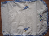 Pilgrim, Isabel.  A bird themed embroidered and crocheted table runner made by Isabel Pilgrim,...