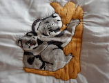 Pilgrim, Isabel.  Koala panel from an embroidered graduation quilt made by Isabel Pilgrim, Main...
