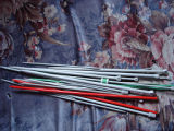 Pilgrim, Karen.  Karen Pilgrim's collection of knitting needles, Main Brook.