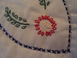 Main Brook Quilting Circle.  Close-up of quilt-embroidery, Main Brook.