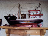 Fillier, Rita.  A model boat made by Rita Fillier's brother-in-law, Main Brook.