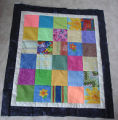 Patey, Gwen.  A work-in-progress patchwork baby quilt made by Gwen Patey, Quirpon.