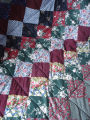 Patey, Gwen.  A patchwork quilt made from upholstery fabric, Quirpon.