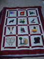 Patey, Gwen.  A work-in-progress applique Newfoundland quilt by Gwen Patey, Quirpon.