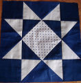 Patey, Gwen.  A star panel for a patchwork quilt by Gwen Patey, Quirpon.