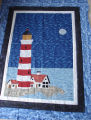 Patey, Gwen.  An applique lighthouse wall hanging made by Gwen Patey, Quirpon.
