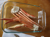 Patey, Scott.  Fresh crab legs served by Scott Patey, Quirpon.