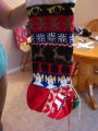 Patey, Gwen.  A Christmas stocking knit by Gwen Patey, Quirpon.