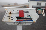 Young, Lloyd.  A Titanic themed mail box made by Lloyd Young, Quirpon.