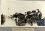 The train off the track.