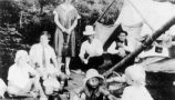 Dr. C.A. Forbes and Irene (Matthews) Forbes on family camping trip with their children