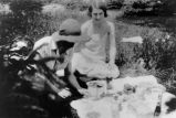 Florence (Deir) Roche (left) and Ethel (Deir) Earles, picnicking
