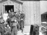 Jack Deir (left) with fellow members of the Royal Canadian Army Medical Corps