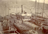 S.S. Jamaica loading at Job Brothers & Co. north side premises, St. John's harbour.